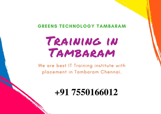 Best Placement IT Training institute in Tambaram Chennai